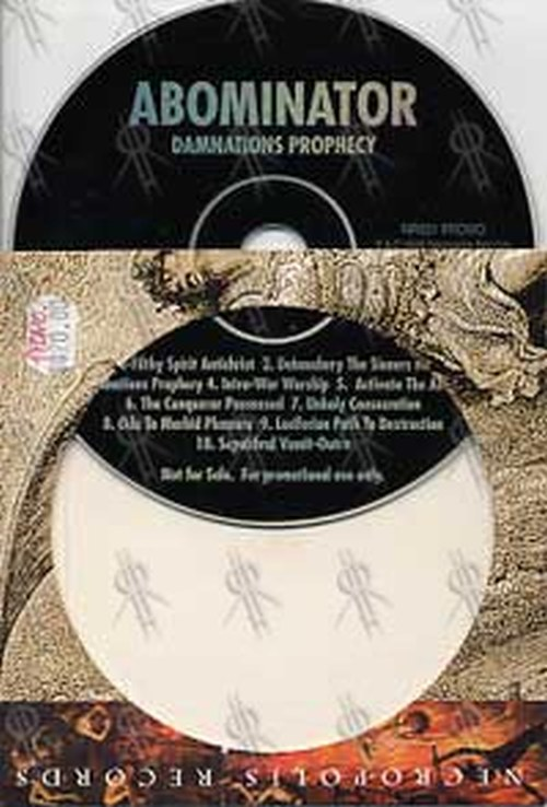 ABOMINATOR - Damnations Prophecy - 1