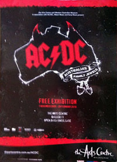 ac dc 39 australia 39 s family jewels 39 exhibition poster posters regular sizes rare records. Black Bedroom Furniture Sets. Home Design Ideas