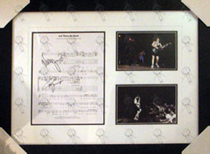 AC/DC - Custom Framed \'Let There Be Rock\' Sheet Music And Live ...