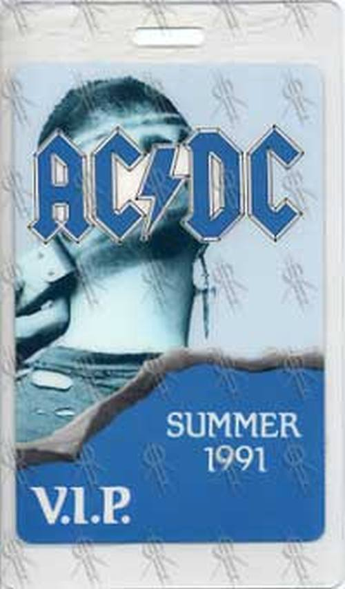 AC/DC - 'The Razors Edge' Summer 1991 Tour V.I.P. Laminate - 1