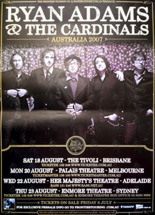 ADAMS-- RYAN - 2007 Australian Tour Poster - 1