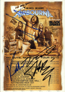 AIRBOURNE - No Guts. No Glory. Signed UK Tour Flyer - 1