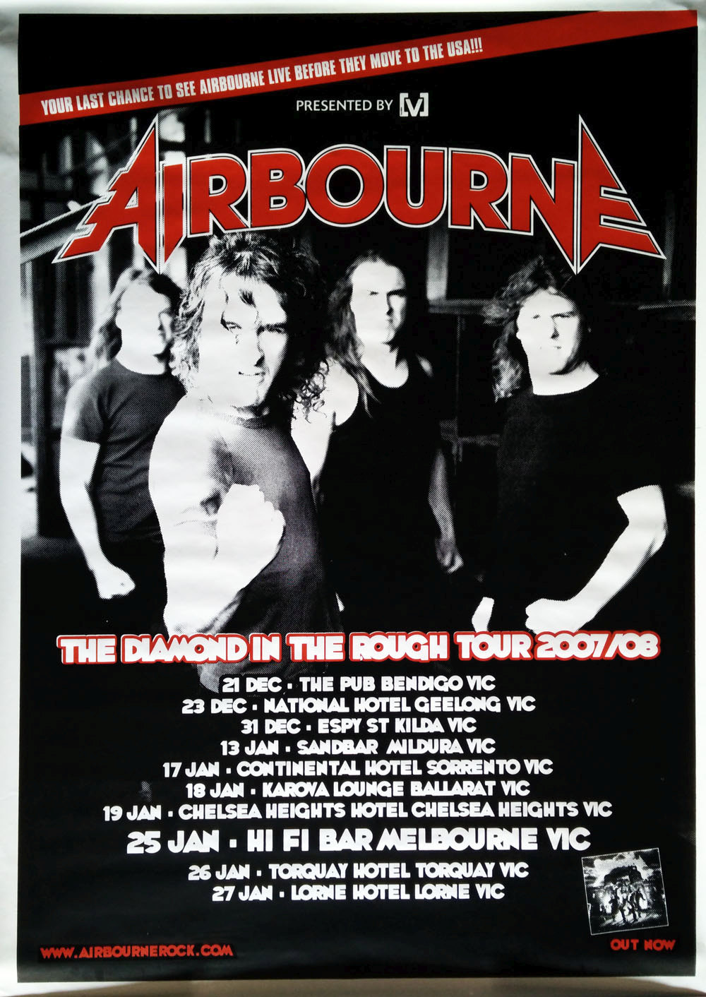 AIRBOURNE - The Diamond In The Rough 2007/08 Australian Tour - 1