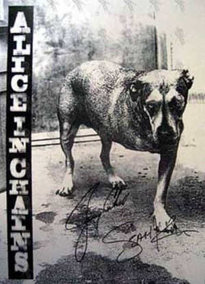 ALICE IN CHAINS - 'Alice In Chains' Block Mount Wall Hanging - 1