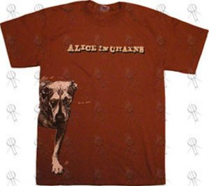 ALICE IN CHAINS - Brown 'Dog' Design T-Shirt - 1