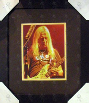 ALICE IN CHAINS - Custom Framed 'Jerry Cantrell Live' 8 x 10 Photograph - 1