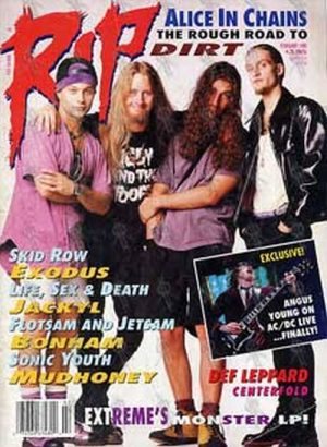 ALICE IN CHAINS - 'RIP' - February 1993 - Alice In Chains On The Cover - 1