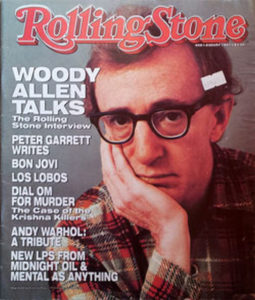 ALLEN-- WOODY - 'Rolling Stone' - Aug 1987 - Woody Allen On Cover - 1