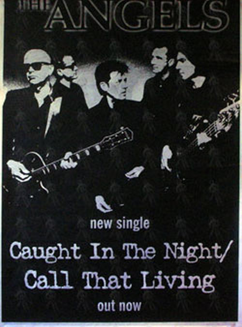 ANGELS-- THE - 'Caught In The Night' Single Promo Poster - 1