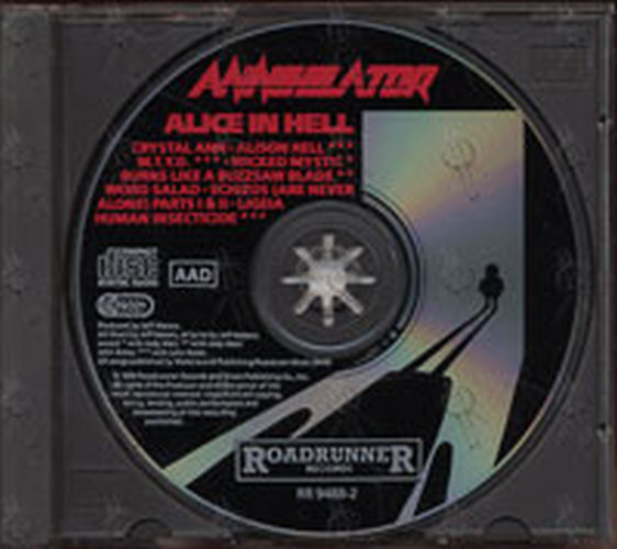 Annihilator Alice In Hell Album Cd Rare Records