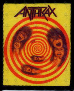 ANTHRAX - Embroidered 'State Of Euphoria' Design Logo Patch - 1