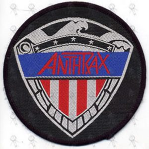 ANTHRAX - Large Embroidered 'Military Logo' Design Patch - 1