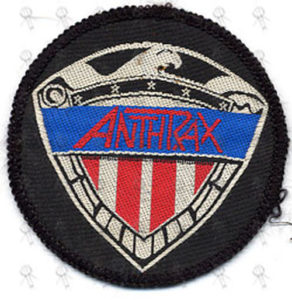 ANTHRAX - Small Embroidered 'Military Logo' Design Patch - 1