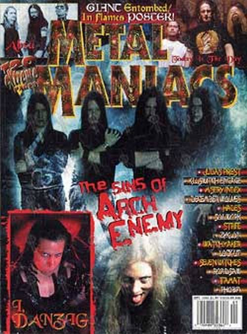 ARCH ENEMY - 'Metal Maniacs' - September 2002 - 1