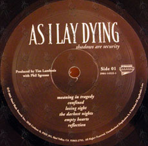 As I Lay Dying Shadows Are Security 12 Inch Lp Vinyl