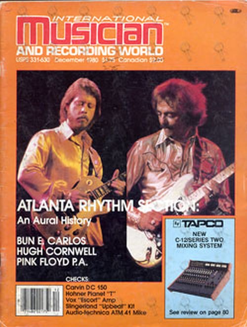 ATLANTA RHYTHM SECTION - 'International Musician' December 1980 - Atlanta Rhythm Section On Front Cover - 1
