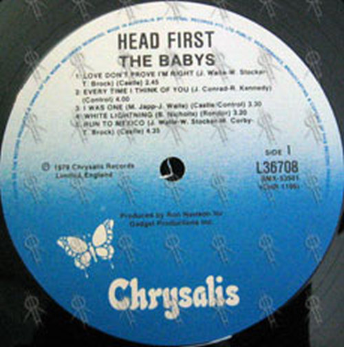 BABYS, THE - Head First (12 Inch / LP, Vinyl) | Rare Records
