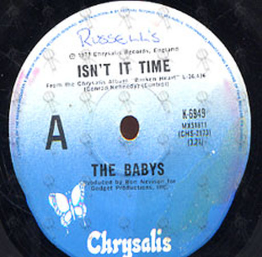 The Babys - Isn't It Time - Every Time I Think Of You