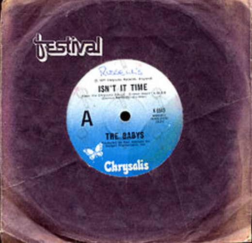 Babys The Isn T It Time 7 Inch Vinyl Rare Records