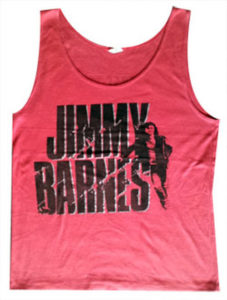 BARNES-- JIMMY - 'Back For A Flash' 1986 Red Tour Singlet - 1