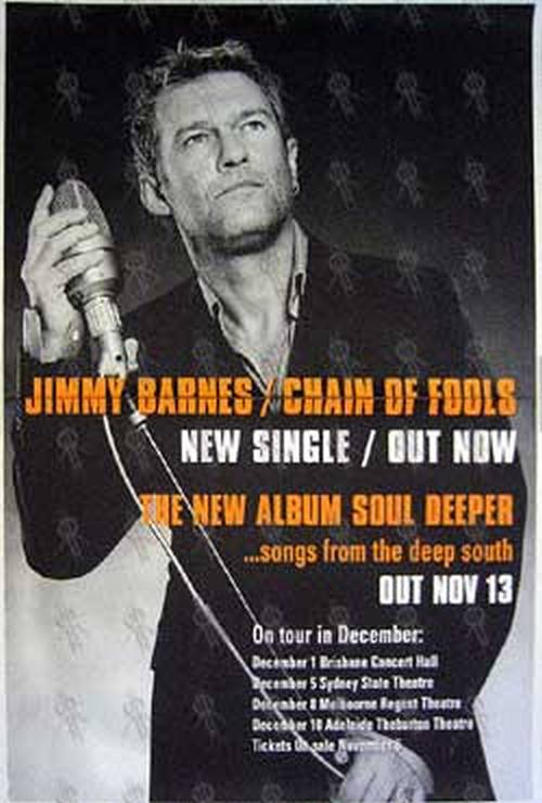 BARNES-- JIMMY - 'Chain Of Fools' Single/'Soul Deeper' Album/Tour Poster - 1