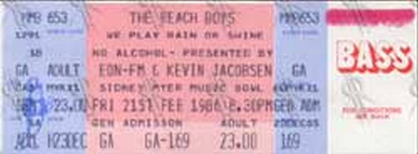 BEACH BOYS-- THE - Sidney Myer Music Bowl