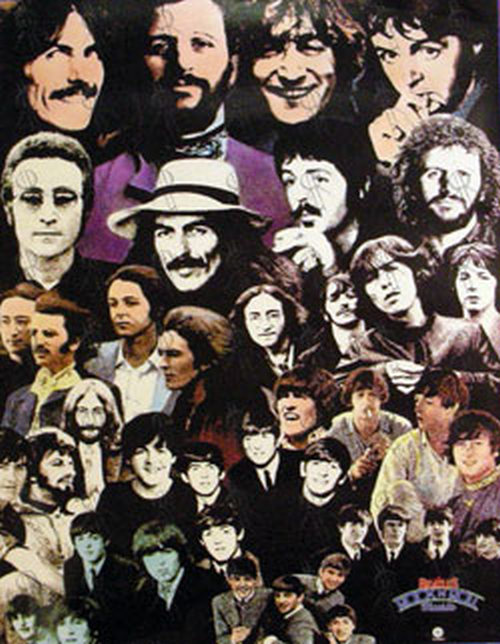 BEATLES-- THE - Band Photo Collage - 1