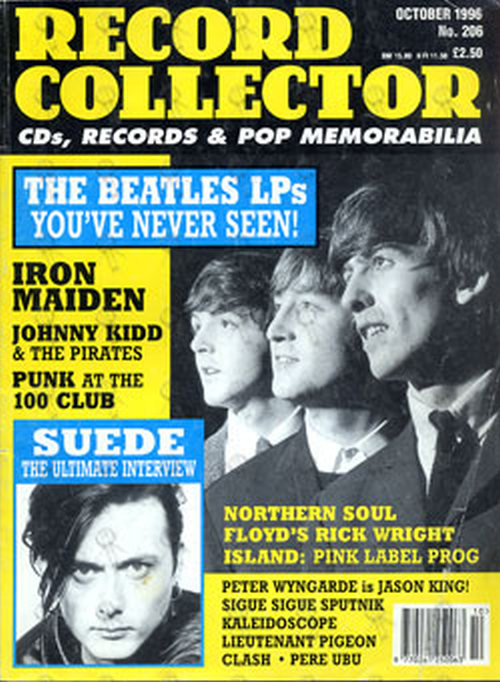 BEATLES-- THE - 'Record Collector' October 1996 - Beatles On Front Cover - 1