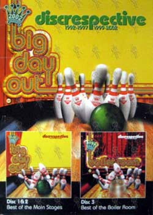 BIG DAY OUT - Disrespective (Best Of Mainstage & Boiler Room) Album Poster - 1