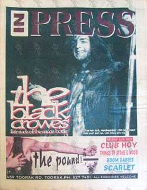 BLACK CROWES-- THE - 'Inpress' - 15th July 1992 - Chris Robinson On Cover - 1