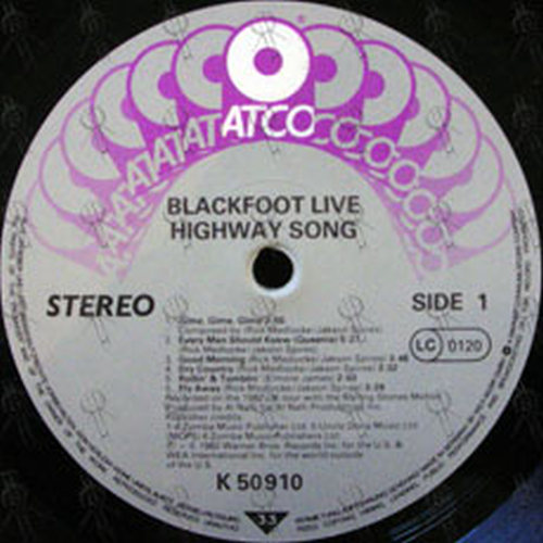 Blackfoot - Road Fever / Highway Song