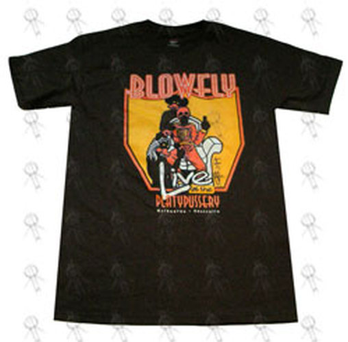BLOWFLY - Brown 'Live At The Platypussery' Desing T-Shirt - 1