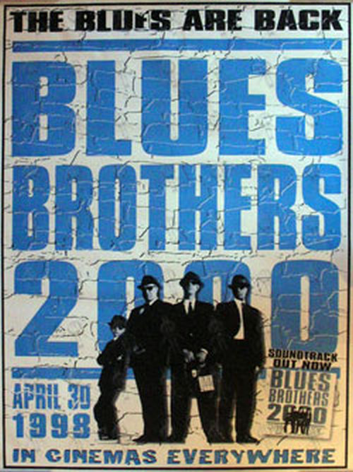 Blues Brothers Blues Brothers 2000 Cinema Release Poster Posters Regular Sizes Rare Records