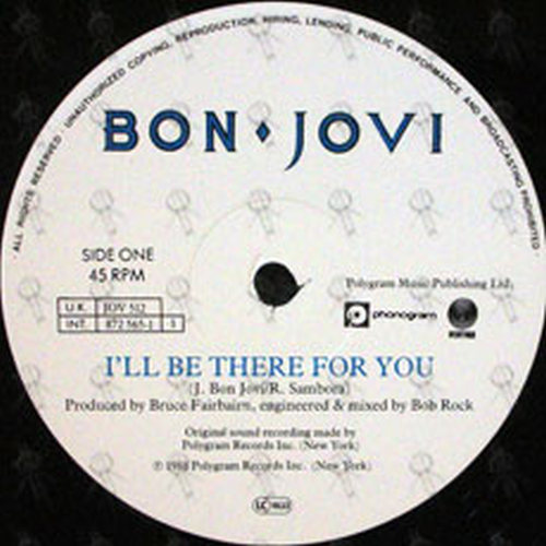 Bon Jovi I Ll Be There For You 12 Inch Lp Vinyl