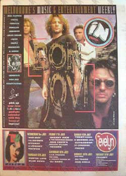 BON JOVI - 'Inpress' - 5th July 1995 - Bon Jovi On Cover - 1