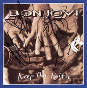 BON JOVI - 'Keep The Faith' Promo Postcard - 1