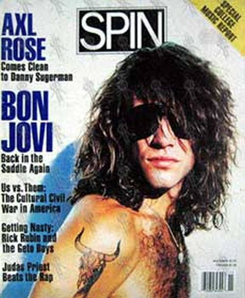 BON JOVI - 'Spin' - November 1990 - Bon Jovi On The Cover - 1