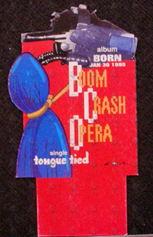 BOOM CRASH OPERA - Die-Cut 'Born' Album Design Promo CD Backstand - 1