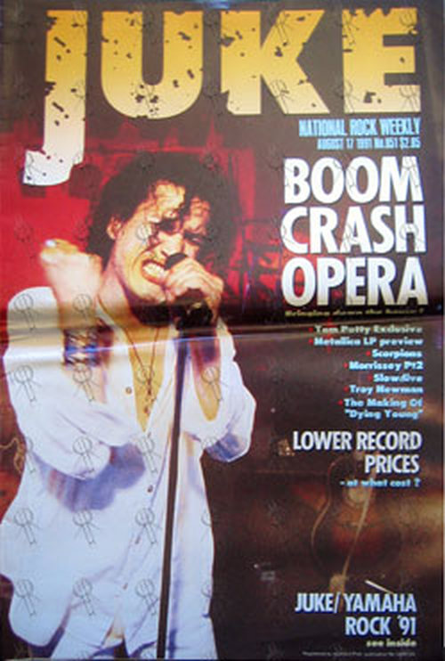 BOOM CRASH OPERA - 'Juke' - 17th August 1991 - Boom Crash Opera On Cover - 1