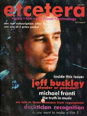 BUCKLEY-- JEFF - 'Etcetera' - July 2001 - Jeff On The Cover - 1