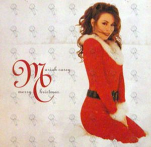 CAREY-- MARIAH - Merry Christmas / Lucky Charm Double Sided Promo Flat - 1