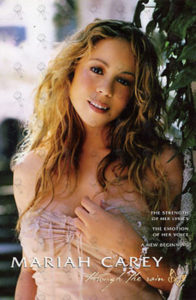 CAREY-- MARIAH - 'Through The Rain' Promo Postcard - 1