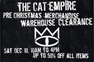 CAT EMPIRE-- THE - 'Merchandise Clearance' Promo Flyer - 1