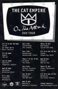 CAT EMPIRE-- THE - 'On The Attack' DVD Tour Promotional Flyer - 1