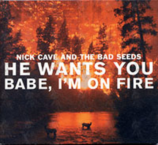 CAVE AND THE BAD SEEDS-- NICK - He Wants You / Babe I'm On Fire - 1