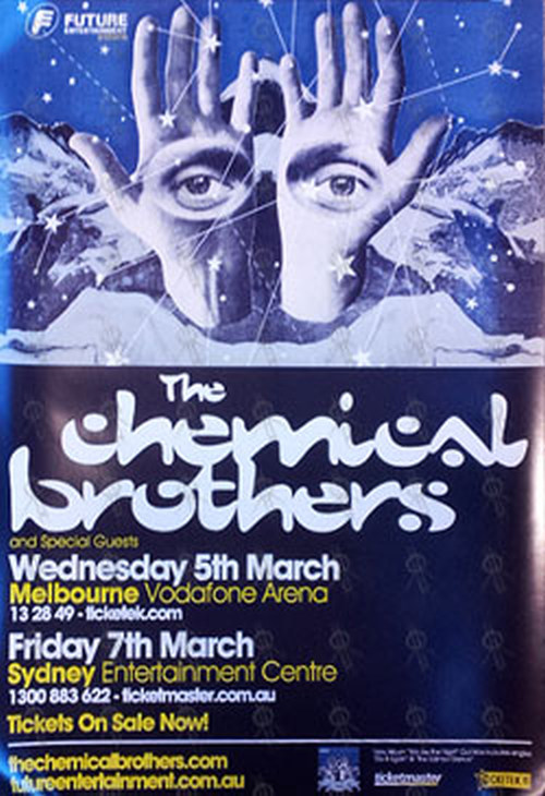 CHEMICAL BROTHERS-- THE - March 2008 Australian Tour Poster - 1