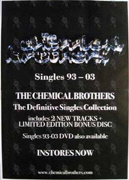 CHEMICAL BROTHERS-- THE - 'Singles 93 - 03' Album Poster - 1