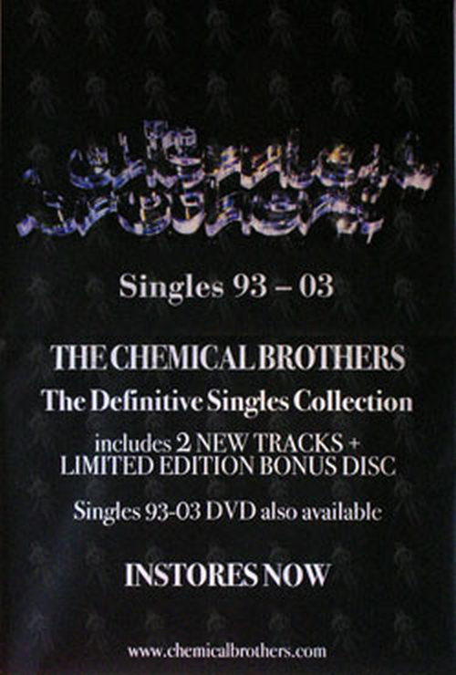 CHEMICAL BROTHERS-- THE - 'The Definitive Singles Collection' Album Promo Poster - 1