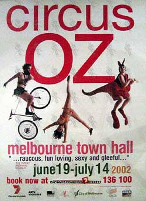 Circus Oz Melbourne Town Hall June 19 July 14 2002