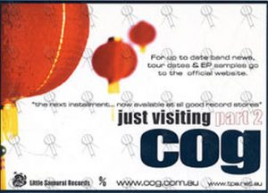 COG - 'Just Visiting Part 2' Promo Flyer - 1